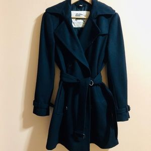 Burberry Wool Trench Coat. Size 4-6.